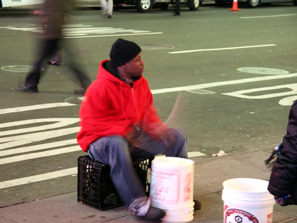 Drummer at Times Square