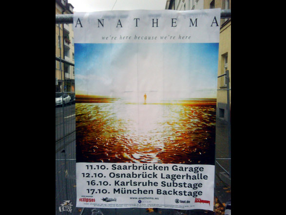 Anathema Konzertposter We're here because we're here