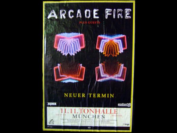 Arcade Fire Neon Bible Tourposter