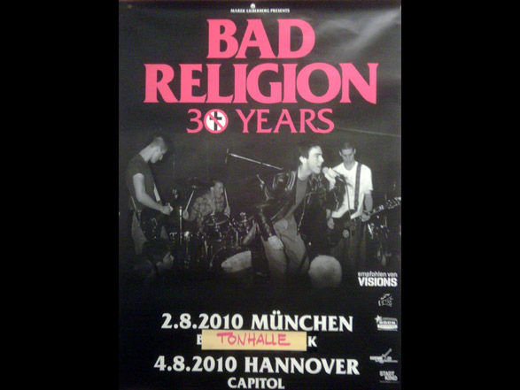 Bad Religion 30 years Tourposter