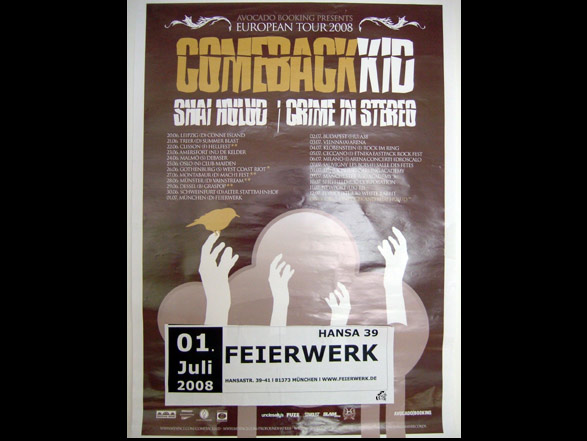 Comeback Kid - Shai Hulud - Crime In Stereo European Tourposter