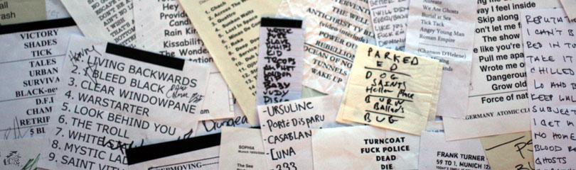 Setlists Rock The Cam