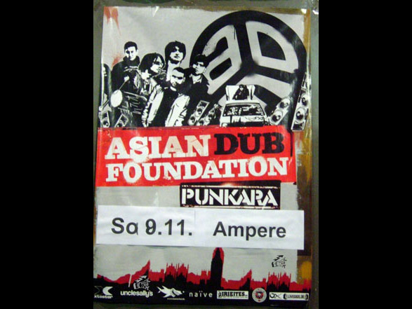Asian Dub Foundation - Punkara Tourposter