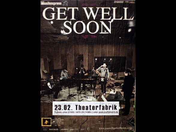 Get Well Soon - Vexations Tourposter