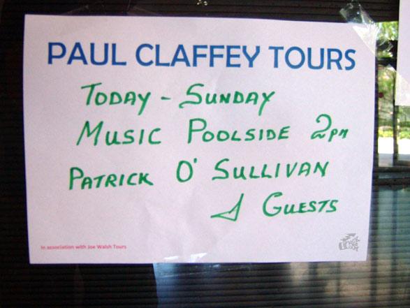 Patrick O'Sullivan Konzertposter