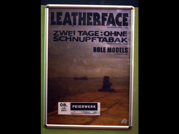 Leatherface Konzertposter für München