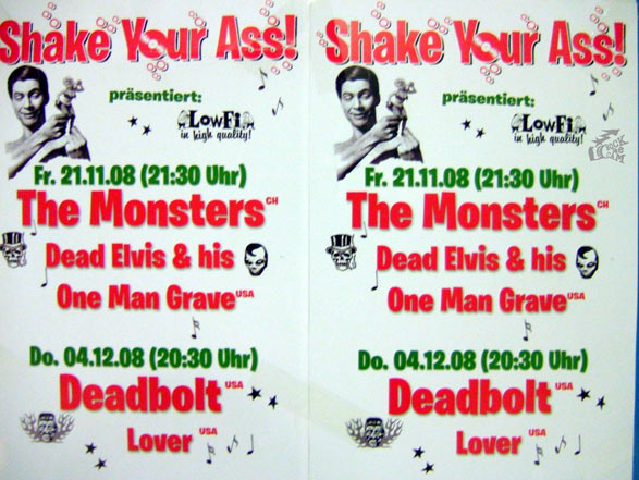 The Monsters Konzert Flyer