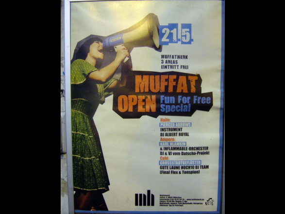 Muffat Open Fun For Free - München 2008 - Poster