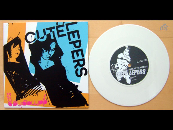 CUTE LEPERS - Damaging Acts  white vinyl version