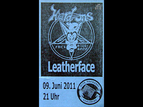 Hard Ons + Leatherface Konzertticket