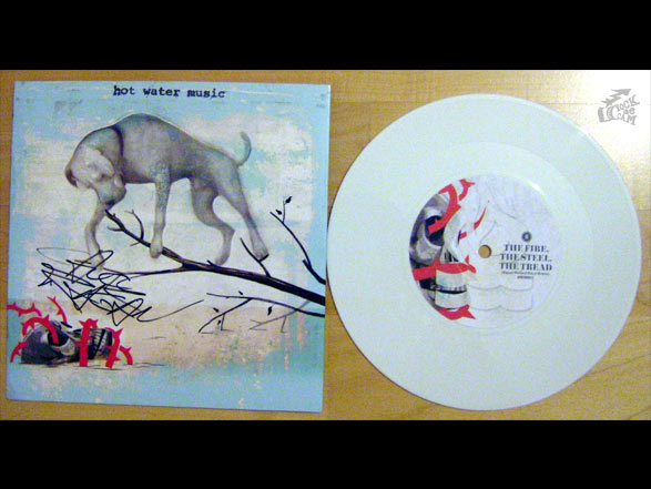 HOT WATER MUSIC - The Fire. The Steel. The Tread. - HWM Records - white euro tour vinyl version