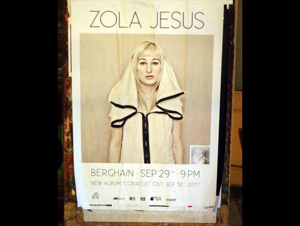 Zola Jesus Konzertplakat - Berghain - Berlin