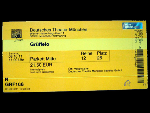 Grüffelo - Eintrittskarte