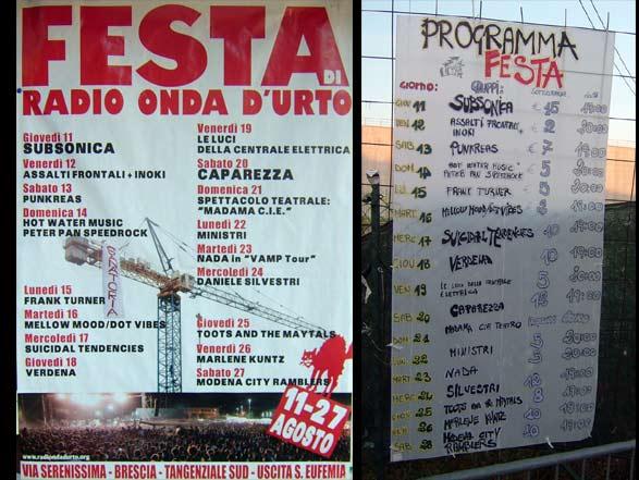 Festa Di Radio Onda D'Urto - Brescia 2011 - Poster