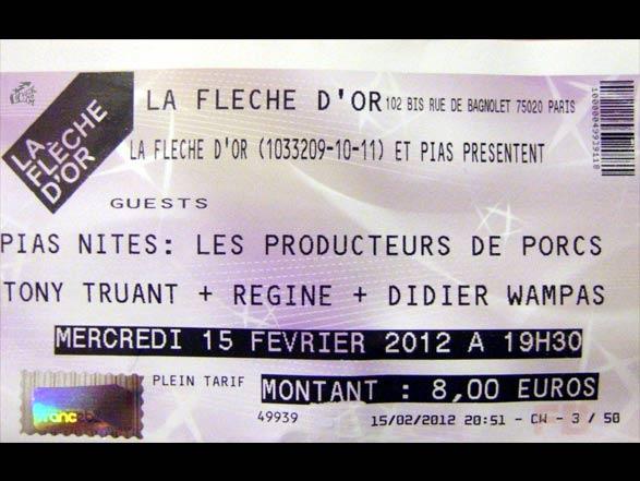 Les Producteurs De Porcs - Ticket