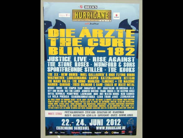 Hurricane Festival - Scheeßel 2012 - Poster