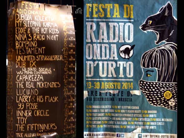 Festa Di Radio Onda D'Urto - Brescia Italy 2014 - Poster