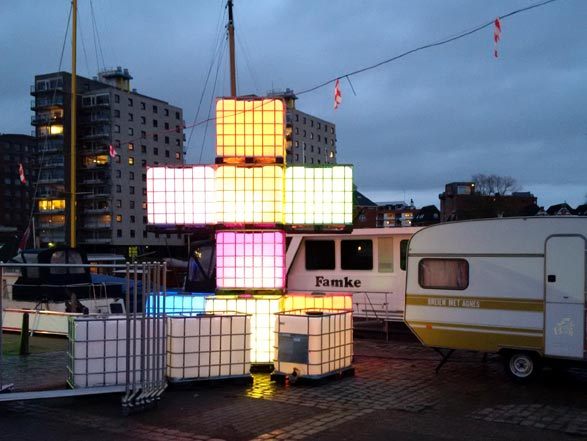 Groningen Eurosonic Noorderslag - light art installing