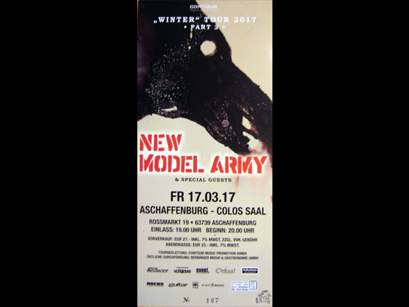 New Model Army - Colos Saal ticket 2017