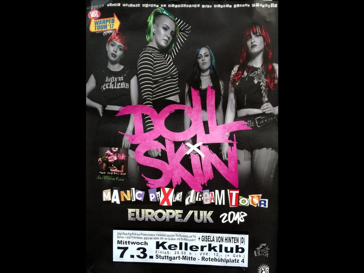 Doll Skin tour poster Stuttgart Keller Klub 2018