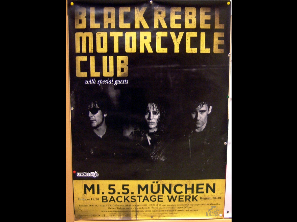 Black Rebel Motorcycle Club tour poster 2010